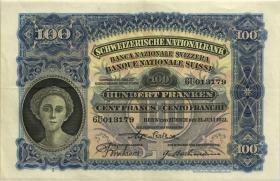 Schweiz / Switzerland P.35g 100 Franken 1931 (3+)