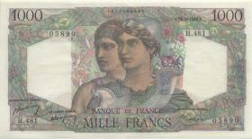 Frankreich / France P.130b 1000 Francs 26.2.1948 (2)