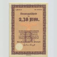 Steuergutschein 2,38 Reichsmark 1937 (1944) (1)