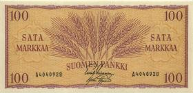 Finnland / Finland P.097 100 Markkaa 1957 (1)