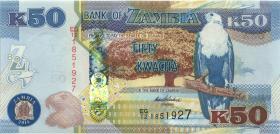 Sambia / Zambia P.53b 50 Kwacha 2014 (1)