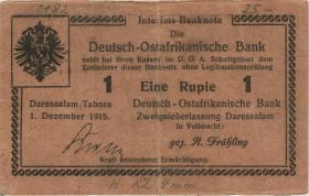 R.923c: Deutsch-Ostafrika 1 Rupie 1915 H (3)