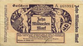 PS1105 Reichsbahn München 10 Milliarden Mark 1923 (3)