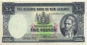 Neuseeland / New Zealand P.160d 5 Pounds (1960-67) (3+)
