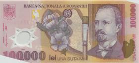 Rumänien / Romania P.114 100.000 Lei 2003 Polymer (1)