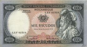 Mozambique P.112b 1000 Escudos 1972 (3+)