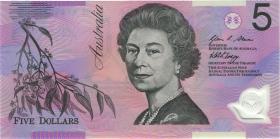 Australien / Australia P.57e 5 Dollars (20)07 HB 07 Polymer (1) last prefix
