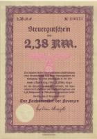 Steuergutschein 2,38 Reichsmark 1937 (1941) (1)