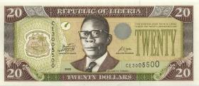 Liberia P.28e 20 Dollars 2009 (1)