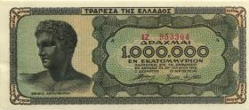 Griechenland / Greece P.127a 1.000.000 Drachmen 1944 (1)