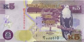 Sambia / Zambia P.50b 5 Kwacha 2014 (1)
