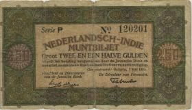 Indien / India P.104 2 1/2 Gulden 1920 Muntbiljet (5)