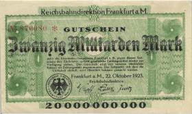 PS1222 Reichsbahn Frankfurt 20 Milliarden Mark 1923 (2)