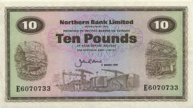 Nordirland / Northern Ireland P.189e 10 Pounds 1987 (2)