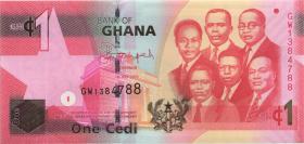 Ghana P.37f 1 Cedi 2015 (1)