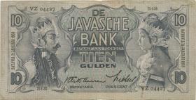 Ndl. Indien / Netherlands Indies P.079b 10 Gulden 1938 (3)