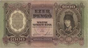 Ungarn / Hungary P.116 1000 Pengö 1943 (2)