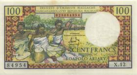 Madagaskar P.57 100 Franc = 20 Ariary  (1966) (3+)