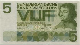 Niederlande / Netherlands P.090a 5 Gulden 1966 (1-)