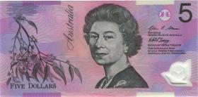 Australien / Australia P.57e 5 Dollars (20)07 BA 07 Polymer (1) first prefix