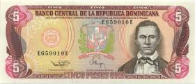 Dom. Republik/Dominican Republic P.143a 5 Pesos Oro 1993 (1)