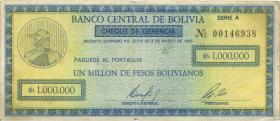 Bolivien / Bolivia P.190 1.000.000 Pesos Bolivianos 1985 (3)