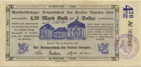 Demmin 4.20 Mark Gold = 1 Dollar 1923 (1-)