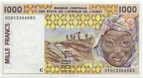 West-Afr.Staaten/West African States P.311CI 1.000 Francs 2001 Burkina Faso (1)