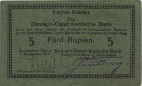"""R.921a: Deutsch-Ostafrika 5 Rupien 1915 D (2) """"Kessal"""""""