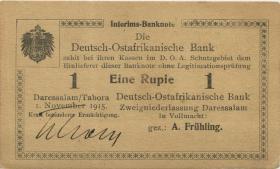 R.918a: 1 Rupie 1915 E korrigierte Nummer (1)