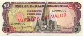 Dom. Republik/Dominican Republic P.104s3 100 Pesos Oro (1964-74) Specimen (1)