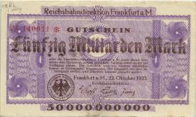 PS1223 Reichsbahn Frankfurt 50 Milliarden Mark 1923 (3)