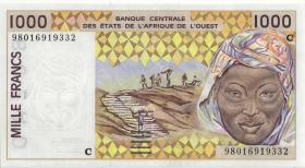 West-Afr.Staaten/West African States P.311Ci 1.000 Francs 1998 Burkina Faso (1)