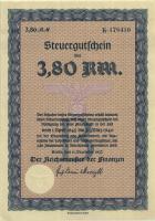 Steuergutschein 3,80 Reichsmark 1937 (1945) (1) Serie B