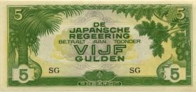 Ndl. Indien / Netherlands Indies P.124c 5 Gulden (1942) (1)