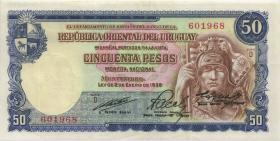 Uruguay P.042A 50 Pesos L 1939 (3+)