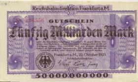 PS1223 Reichsbahn Frankfurt 50 Milliarden Mark 1923 (1-)