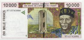 West-Afr.Staaten/West African States P.814Te 10.000 Francs 1997 Togo (1)