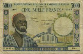 West-Afr.Staaten/West African States P.104Ah 5.000 Francs (1961-65) Elfenbeinküste (4)