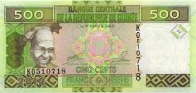 Guinea P.39b 500 Francs 2012 (1)