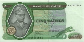 Zaire P.21a 5 Zaires 24.11.1975 (1)