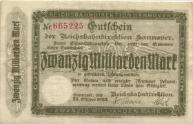 PS1256a Reichsbahn Hannover 20 Milliarden Mark 1923 (2)