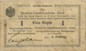 R.918b: 1 Rupie 1915 E korrigierte Nummer (3+)