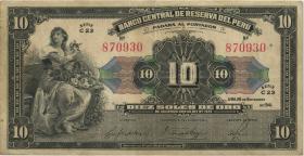 Peru P.067A 10 Soles 1941 (3)