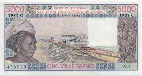 West-Afr.Staaten/West African States P.308Cf 5000 Francs 1981 Burkina Faso (1/1-)