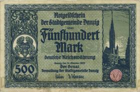 R.793: Danzig 500 Mark 1922 (3+)