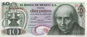 Mexiko / Mexico P.063h 10 Pesos 15.5.1975 (1)