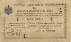 R.918b: 1 Rupie 1915 E korrigierte Nummer (2)