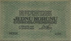 Tschechoslowakei / Czechoslovakia P.06 1 Krone 1919 (1)