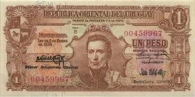 Uruguay P.035a 1 Peso 1939 Serie B (2)